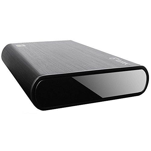 Fantec DB-ALU3 500GB 8,89cm 3,5Zoll Externe Festplatte Aluminuim gebuerstet abwaertskompatibel zu USB 2.0 und USB 1.1