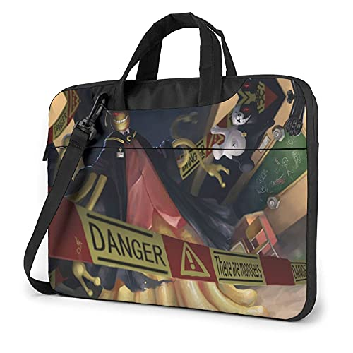VJSDIUD Borsa del portatile 14 Inch Assassination Classroom One-Shoulder Portable Tablet Briefcase Ultra-Light Shockproof