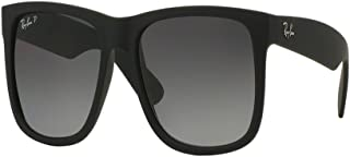 Authentic Ray-ban Justin RB 4165 622/T3 55mm Rubber Black/Grey Gradient Polarized