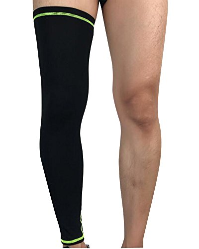 Beinwärmer Leg Warmers/Accesorio de Ciclismo,Anti-UV Perneras Mangas Elástica Transpirable Como, Calcetines de Compresion de Pierna Completa (Envoltura única) Negro L