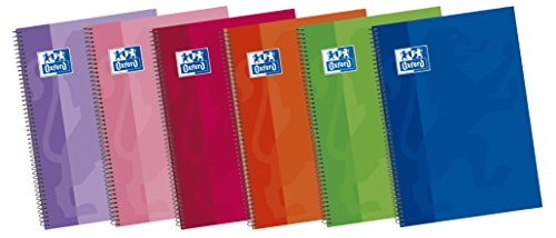 Oxford Classic 100430163 - Pack de 5 cuadernos espiral de tapa extradura, Fº