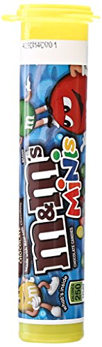 M&M'S Milk Chocolate MINIS Size Candy, 1.08 Ounce Tube