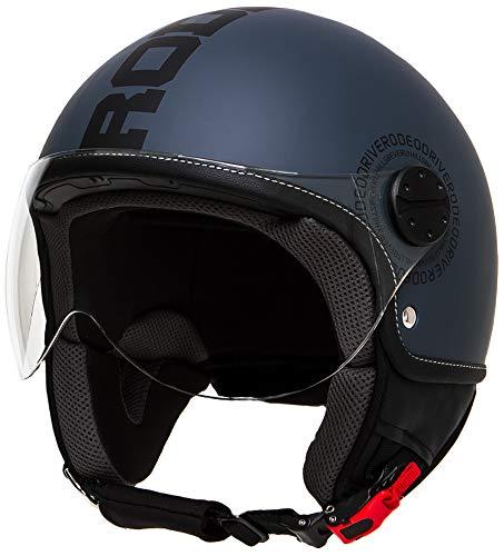 Rodeo Drive RD112 casco scooter con visiera elicotterista; antracite - nero; x_large