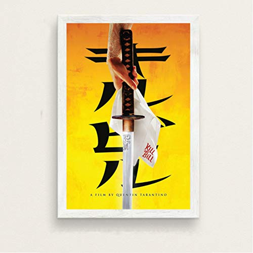 PCCASEWIND Cuadro En Lienzo 50X70Cm,Kill Bill UMA Thurman por Quentin Tarantino Classic Movie Series Vintage Art Painting Canvas Wall Poster Home Decor Ao-890