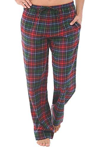 Alexander Del Rossa Women's Flannel Pajama Pants, Long Cotton Pj Bottoms, Medium Red Green Blue Even Plaid (A0702V69MD)