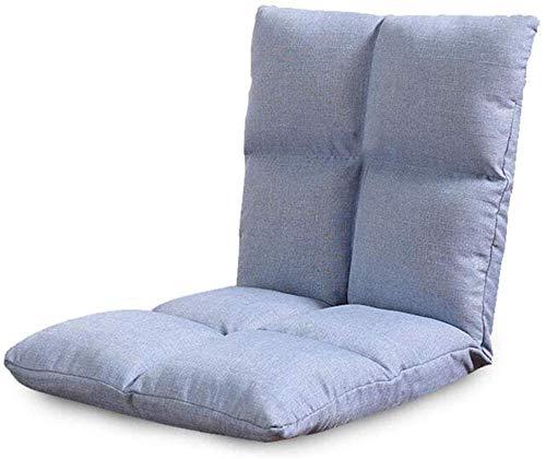Jieer-C Vrijetijdsstoel, opvouwbaar op de vloer, bank, bed, verstelbaar, futonbed, matras, stoel, slaapkamer, balkon, woonkamer, duurzaam random color