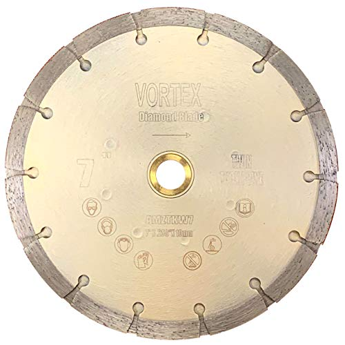 VORTICE TKW 7 inch Standard Twin Tuck Point Blade Sintered Diffusion Bonded Dry or Wet Cutting for Mortar and Concrete (7
