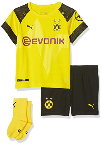 PUMA Kinder BVB Home Babykit Socks Evonik with OPEL Logo Trikot, Cyber Yellow, 62