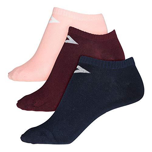Converse Damen Socken Basic Low Cut 3-er Pack Füßlinge navy bordeaux rosa, Größe:39-42 EU