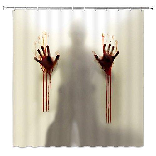 blood spatter shower curtain - 5