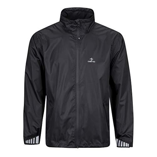 DEKO meer comfortabel, gelukkiger en droger wanneer buiten mannen fietsen waterdichte winddichte jas zwart