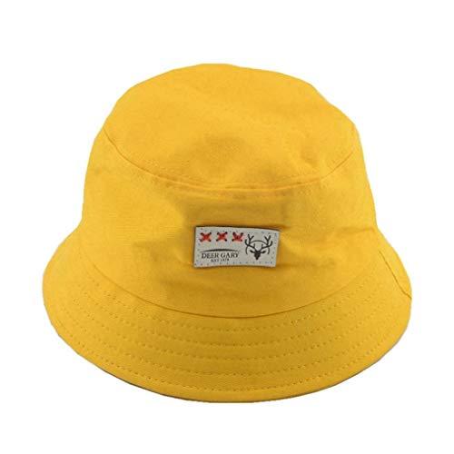 AROVON Sombrero de cubo Unisex Niño Verano Playa Sombreros de Algodón Sombreros de Sol Niñas Sunbonnet Panamá para Niños Bebé Regalos