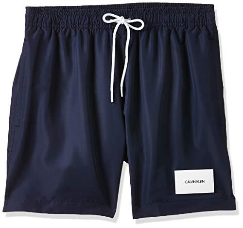 Calvin Klein Medium Drawstring Bañador, Azul (Black Iris CBK), Large para Hombre