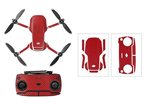 Rantow Shell Dekoration Aufkleber Controller Decals Set für DJI Mavic Mini Drohne Wasserdicht DIY Haut Dekoration Drohne Körper Aufkleber (2 rote Körnung)