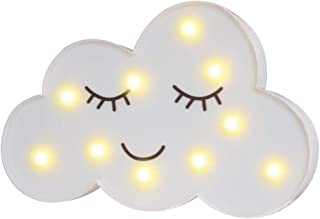 Pooqla LED Painted Cloud Night Light, Emoji Face Marquee...