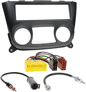 Carmedio Nissan Almera 00 06 1 DIN Autoradio Einbauset in original Plug&Play Qualität mit Antennenadapter Radioanschlusskabel Zubehör und Radioblende Einbaurahmen schwarz
