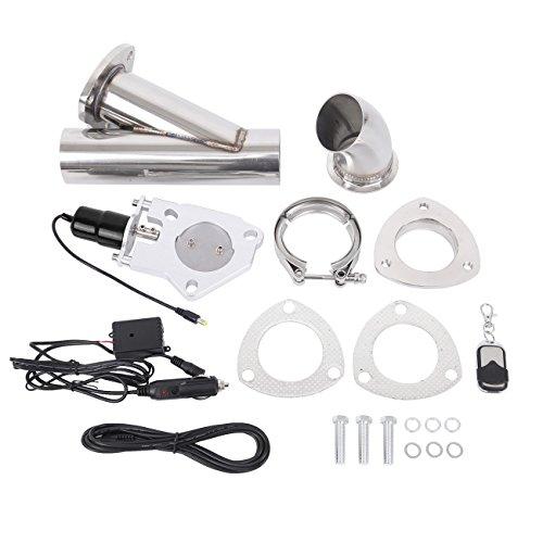 """Ambienceo 2.5"""" 63 millimetri in acciaio inox kit di interruttori valvola di scarico silenziatore elettrico con telecomando"""