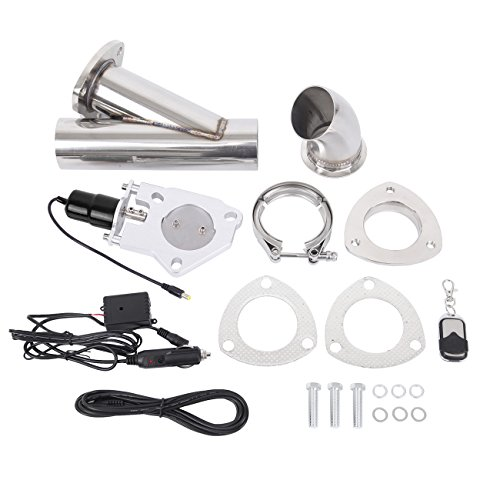 Ambienceo 2.5' 63 millimetri in acciaio inox kit di interruttori valvola di scarico silenziatore elettrico con telecomando