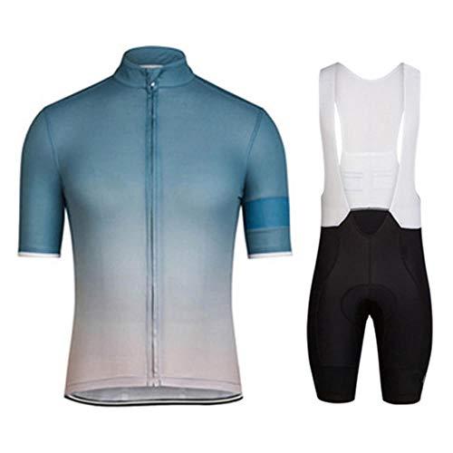 HXTSWGS Ropa Ciclismo Verano para Hombre Ciclismo Maillot,Conjuntos de Ropa de Ciclismo/Ropa de Ciclismo Transpirable para Hombres Conjuntos de Camisetas de Ciclismo de Manga Corta de verano-A11_L