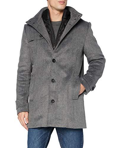 TOM TAILOR Herren 2-in-1 Wollmantel, 13125-Mid Grey Wool Jacket, L