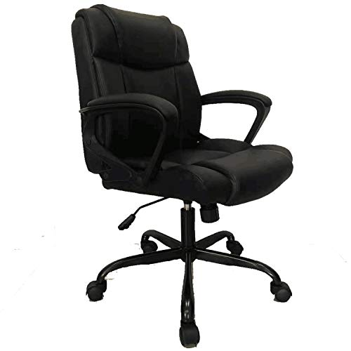 Furmax PU Leather Ergonomic Office Desk Chair with Padded Arms 360 Degree Swivel