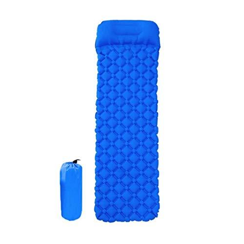 yanshan Colchón de Aire de la Estera de Playa Inflable colchón de Picnic con Almohada Bolsa de Dormir cojín sofás sofás Inflable Almohadilla Dormir (Color : Blue)