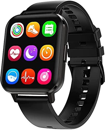 2021 DALIL 1.78 Smartwatch Orologio Sportivo Uomo Donna IP68 Impermeabile, Con saturimetro misura pressione sanguigna Monitoraggi Saluti Funzioni Sport per Android e iOS (Nero)
