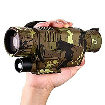 BOBLOV Digital Night Vision Monocular 5x8 Optics Scope Night Vision Infrared Monoculars with 16GB Card for Hunting Observe  P15 with 16G Card   Camouflage