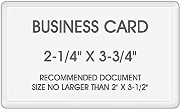 Best Laminating - 5 Mil Business Card Therm. Laminating Pouches - 2-1/4 x 3-3/4 (100 Pouches)