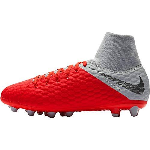 Nike Jr Hypervenom 3 Acad DF AG-Pro, Zapatillas de Fútbol Unisex Niños, Rojo (Rot/Gr Rot/Gr), 36 EU