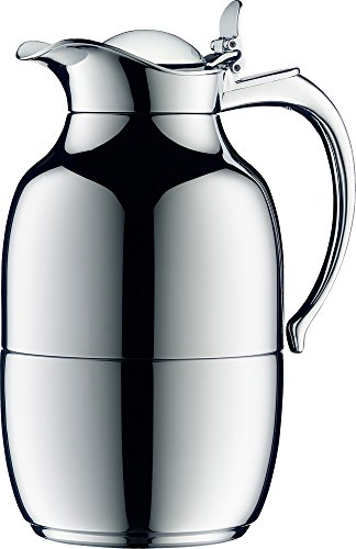 【正規品】alfi アルフィ ガラス製卓上用魔法びん Helena (ヘレナ) 1.0L クロムミラー AFTC-1000G CMM