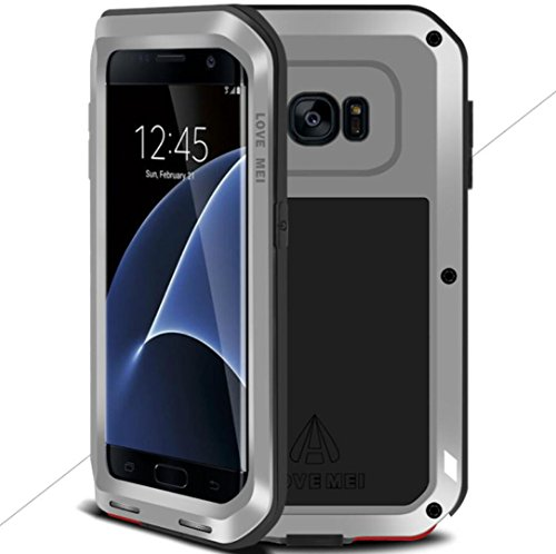 Galaxy S7 Warrior Love Mei Shell, Awesome Aviation Aluminum Metal Anti-Drop Funda, TAITOU Cool Outdoor Sport Dirt Shockproof Protective Armor Phone Case For Samsung Galaxy S7 Silver