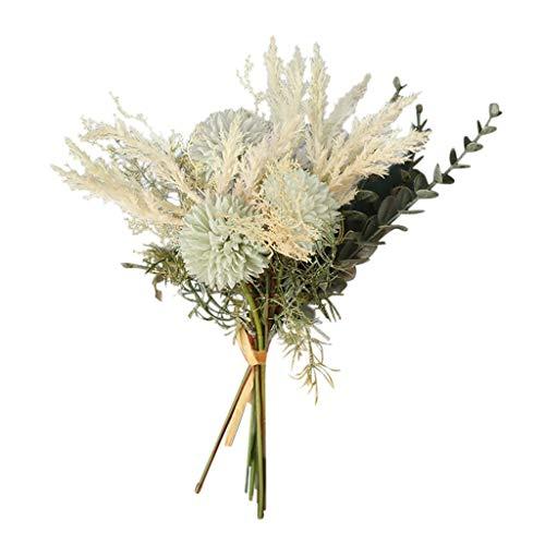 ToDIDAF Künstlicher Blumenstrauß mit Blättern Kunstpflanze Kunstblumen Künstliche Pflanze Künstliche Blumen für Weihnachten Geburtstag Hochzeit Wohnzimmer Büro Cafe Desktop Dekoration 38cm (B)