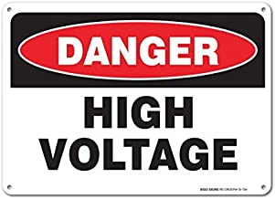 "Bestauseller High Voltage Sign Large 10""X7"" Aluminum for Indoor or Outdoor Use"