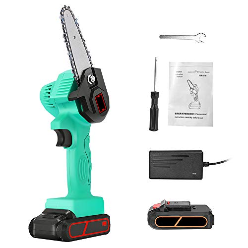 Vogvigo Portable Electric Cordless Chainsaw, Mini Electric Chainsaw Professional Cordless Electric Pruning Shears Rechargeable 21V Lithium Battery Powered Tree Branch Pruner Garden Tool