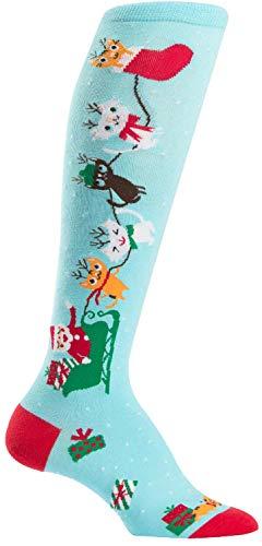 Sock It To Me Women's Jingle Cats Knee High Socks