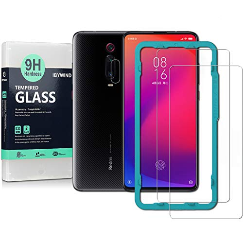 Ibywind Screen Protetor for Xiaomi Mi 9T / Mi 9T Pro/Redmi K20 / Redmi K20 Pro [Pack of 2] with Camera Lens Tempered Glass Protector,Back Carbon Fiber Skin Protector,Including Easy Install Kit