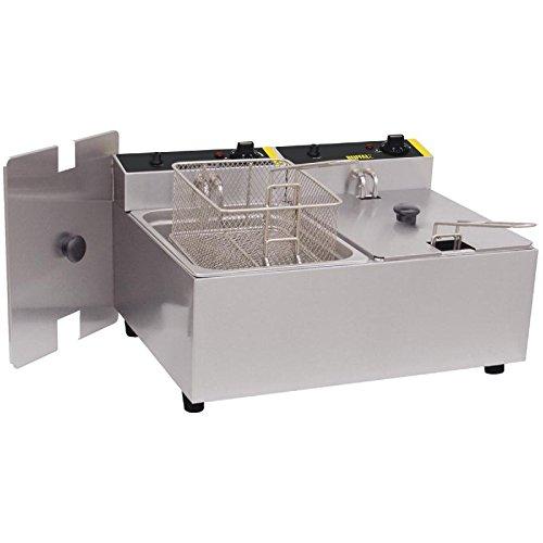 Buffalo doble freidora 2X 5Ltr 300x 540x 400mm Catering cocina restaurante
