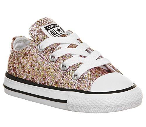 Converse Unisex Kinder Chuck Taylor All Star Core Ox Sneakers, Mehrfarbig - Glitter Exclusive - Größe: 27 EU