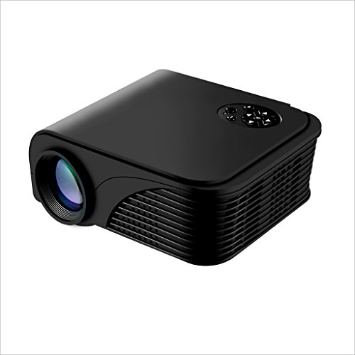XHZNDZ Proyector, 2018 actualizado (+ 80% lúmenes) Proyector de Video portátil S320 1080P HD Home (para PC / Mac / TV / Películas / Juegos / Exterior con Entrada USB / SD / AV / HDMI / VGA)