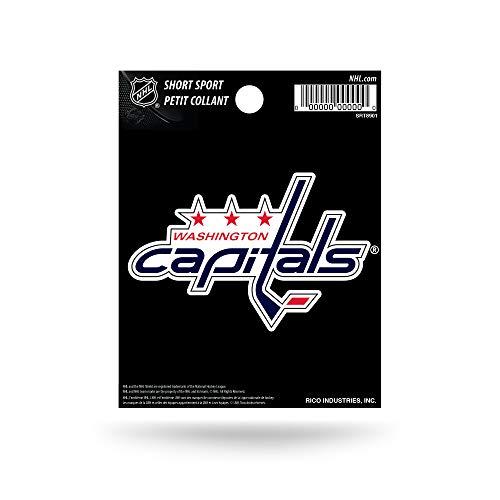 NHL Rico Industries Die Cut Team Logo Short Sport Sticker, Washington Capitals
