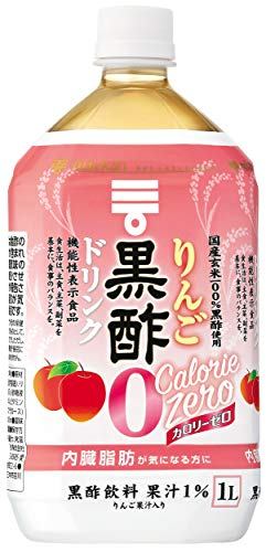 スマートマットライト ミツカン りんご黒酢 カロリーゼロ 1000ml×6本 機能性表示食品