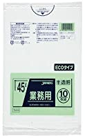 ジャパックス メタロセン配合ポリ袋エコ45L半透10枚 TM49 00073764 【まとめ買い10冊セット】