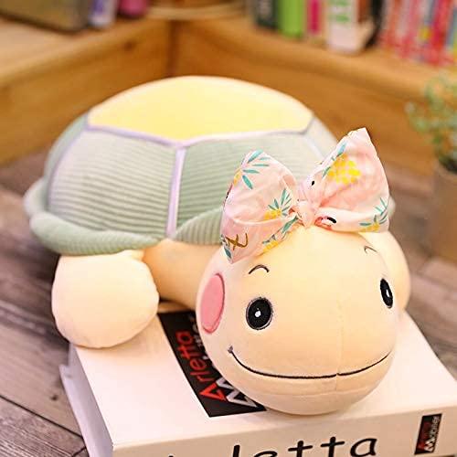 XIAN Coloridos juguetes de peluche de tortuga de mar adorables muñecas de tortuga de peluche suave cama sofá cojín almohada niños niñas presentes 50 cm B granizo (color: A, tamaño: 70 cm)