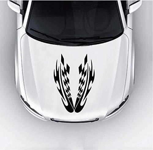 Wandaufkleber Schlafzimmer Autorennen Fahnen Streifen Motorhaube Aufkleber Aufkleber für Motorhaube Fenster Tür für Auto Laptop Fenster Aufkleber