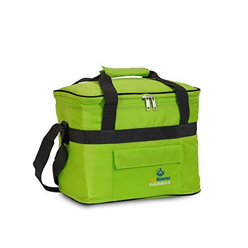 Kühltasche Cool Butler 15, grün, mit Außentasche von outdoorer
