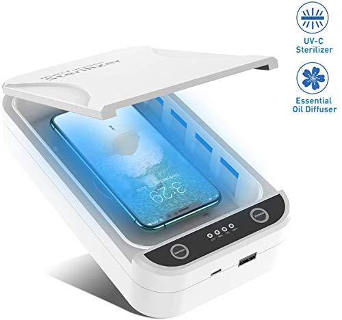 UV Sterilizer Portátil Caja de Desinfección del Teléfono Celular, C
