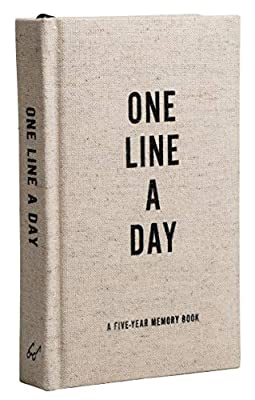 Canvas One Line a Day: A Five-Year Memory Book (Yearly Memory Journal and Diary, Natural Canvas Cover) by Chronicle Books