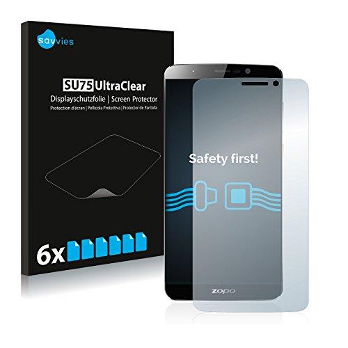 Savvies 6X Schutzfolie kompatibel mit Zopo Speed 7 Plus Displayschutz-Folie Ultra-transparent