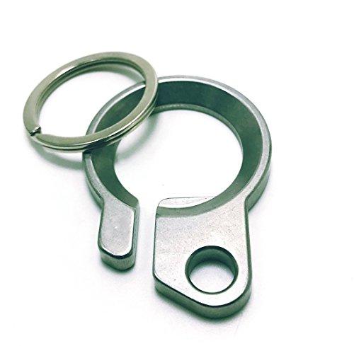 Sleek Stainless Steel Bottle Opener Key Chains- Creative Belt Loop Keyring EDC With Stainless Steel Ring
